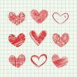 Hand drawn hearts — Stock Vector #49038741