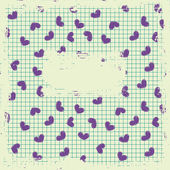 Retro card with hearts — Stock Vector