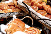 Croissants, savory pastries — Stock Photo