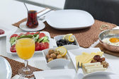 Rich and delicious Turkish breakfast — Stock Photo
