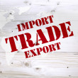 Economy and currency units, trade import export — Stock Photo #37782069