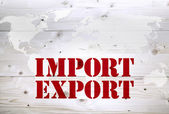 Economy and currency units, trade import export — Stock Photo