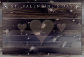 St. Valentine's Day dinner menu — Foto de Stock