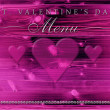 St. Valentine's Day dinner menu — Foto Stock