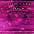 St. Valentine's Day dinner menu — Foto de Stock