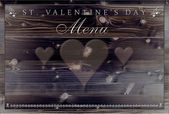 St. Valentine's Day dinner menu — Stock Photo