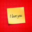 Love notes — Stock Photo