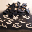 Stock Photo: International black currency units