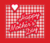 Mother's Day packing paper and greetings card design — Stock Photo