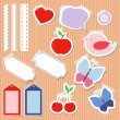 Royalty-Free Stock Vector Image: Set of cute scrapbook elements