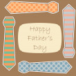 Happy Father's Day card - Stock Vector