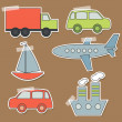 Set of transport stickers for babies — Stock Vector