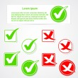 Royalty-Free Stock Vector Image: Vector check mark stickers and banner