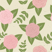 Cute vintage seamless pattern with roses — Stock Vector