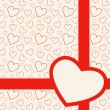 Lovely red card with hearts — Stok Vektör #26523323