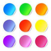 Iconos coloridos web pegajoso — Vector de stock