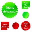 Set of sticky web icons in red and green for your Christmas design — Stock Vector