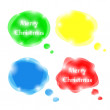 Set of bright vector speech bubbles for Christmas design — Stock Vector