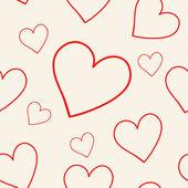 可爱的粉红色背景用的心 — 图库矢量图片