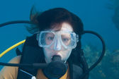 Female Scuba DIver — Stock fotografie