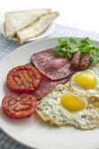 Big and full breakfast — Stock Photo