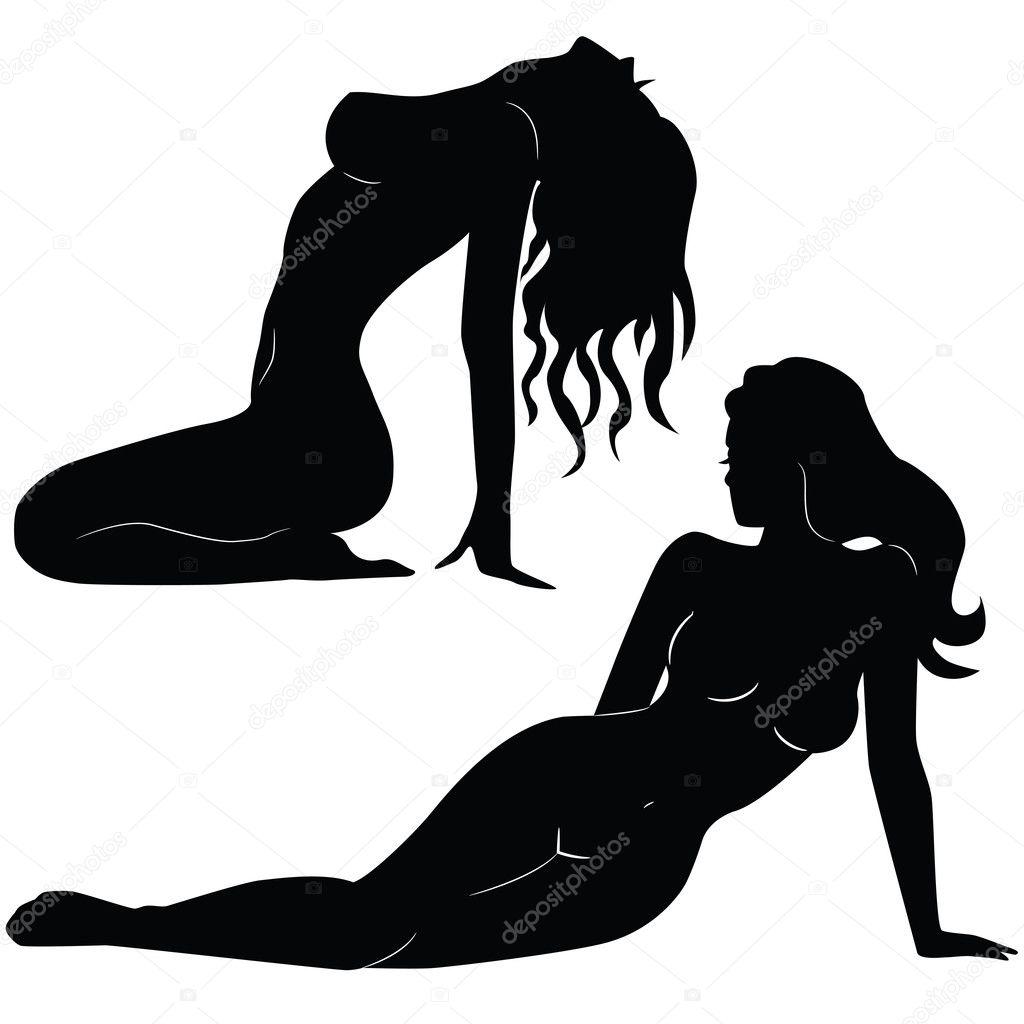 Черно белые эротические клипарты 16 фотография