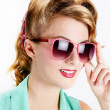 Stock Photo: Womin sunglasses