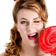 Stock Photo: Red candy