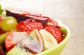 Healthy fruit mix salad — Stock Photo