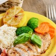 Chicken breast with rice — Stock Photo