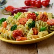Pasta fusilli salad - Stock Photo
