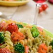 Pasta fusilli salad — Stock Photo