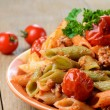 Pasta penne with bolognese — Stock Photo
