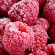 Raspberry frost macro — Stock Photo