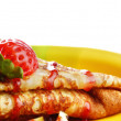 Strawberry crepes - Foto de Stock