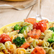 Stock Photo: Pasta fusilli salad