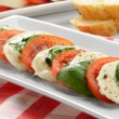 Salad caprese — Stock Photo