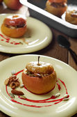 Dessert of Homemade oven baked stuffed apples — Stock Photo