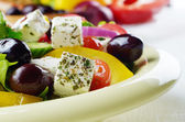 Homemade greek salad — Stock Photo