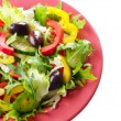 Healthy vegetable fresh organic salad over white — Stock Photo
