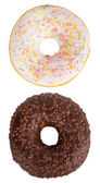 Isolated donuts set — Stock Photo