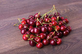 Cherry on a wooden table — Stock Photo