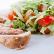 Meat with salad — Stock Photo