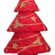 Red Christmas tree — Stock Photo