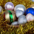 Bright and colorful Christmas balls — Stock Photo