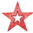 A red glitter star — Foto Stock