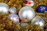 Bright and colorful Christmas balls — Stok fotoğraf