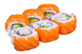 Salmon sushi rolls — Stock Photo
