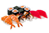 Nigiri sushi and rolls — Stock Photo