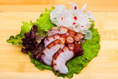 Fresh octopus sashimi — Stock Photo